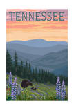 Tennessee - Bears and Spring Flowers Posters by  Lantern Press