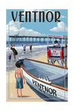 Ventnor, New Jersey - Lifeguard Stand Posters by  Lantern Press