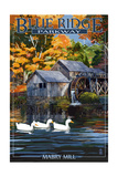 Blue Ridge Parkway - Mabry Mill Prints by  Lantern Press
