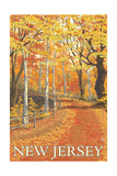 New Jersey - Fall Colors Scene Posters by  Lantern Press