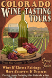 Colorado - Wine Tasting Vintage Sign Prints by  Lantern Press