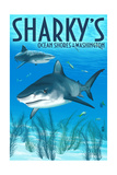 Ocean Shores, Washington - Sharks Posters by  Lantern Press