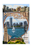 Milwaukee, Wisconsin - Montage Scenes Prints by  Lantern Press