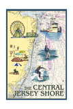 Central Jersey Shore - Nautical Chart Posters by  Lantern Press