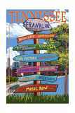 Franklin, Tennessee - Sign Destinations Poster by  Lantern Press