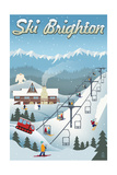 Brighton, Utah - Retro Ski Resort Prints by  Lantern Press
