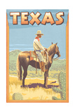 Texas - Cowboy on Horseback Prints by  Lantern Press