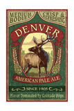 Denver, Colorado - Elk Head Pale Ale Vintage Sign Prints by  Lantern Press