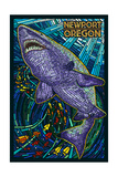 Newport, Oregon - Tiger Shark Mosaic Posters by  Lantern Press