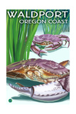 Waldport, Oregon - Dungeness Crab Prints by  Lantern Press
