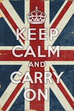 Union Jack - Keep Calm and Carry On ポスター : ランターン・プレス