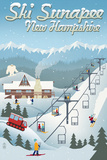Sunapee, New Hampshire - Retro Ski Resort Posters by  Lantern Press