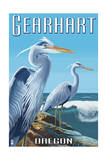 Gearhart, Oregon - Blue Heron Posters by  Lantern Press