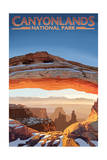 Canyonlands National Park, Utah - Arch Print by  Lantern Press