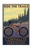 Corvallis, Oregon - Bicycle Ride the Trails Posters van  Lantern Press