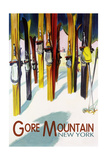 Gore Mountain, New York - Colorful Skis Konst av  Lantern Press