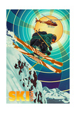 Utah - Heli-Skiing Prints by  Lantern Press