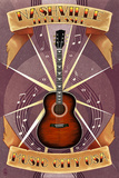 Guitar Banner - Nashville, Tennessee Posters by  Lantern Press