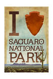 Saguaro National Park, Arizona - I Heart Saguaro Prints by  Lantern Press