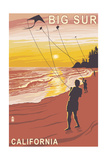 Big Sur, California - Kite Flyer Prints by  Lantern Press