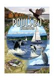 Poulsbo, Washington - Montage Scenes Prints by  Lantern Press
