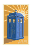 Seattle, Washington - British Police Call Box Art by  Lantern Press