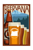 Corvallis, Oregon - Beervana Prints by  Lantern Press