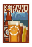 Boulder, Colorado - Beervana Vintage Sign Art by  Lantern Press