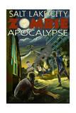 Salt Lake City, Utah - Mormon Zombie Apocalypse Art