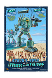 Asbury Park, New Jersey - Invaders from the Deep Prints by  Lantern Press