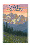 Vail, Colorado - Bears and Spring Flowers Prints by  Lantern Press