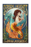 Seaside Heights, New Jersey - Mermaid Prints by  Lantern Press