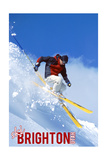Brighton Resort, Utah - Skier Poster by  Lantern Press