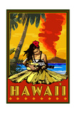 Hula Girl and Ukulele - Hawaii Prints by  Lantern Press