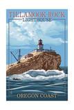 Tillamook Rock Lighthouse - Oregon Coast Prints by  Lantern Press