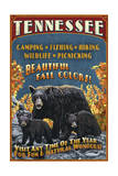 Tennessee - Black Bears Vintage Sign Prints by  Lantern Press