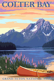 Grand Teton National Park - Colter Bay Art by  Lantern Press