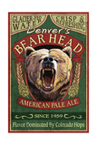 Denver, Colorado - Bear Head Pale Ale Vintage Sign Posters by  Lantern Press