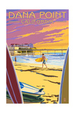 Dana Point, California - Ocean Beach Pier Posters by  Lantern Press