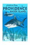 Providence, Rhode Island - Tiger Shark Prints by  Lantern Press