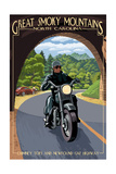 Great Smoky Mountains, North Carolina - Motorcycle and Tunnel Prints by  Lantern Press