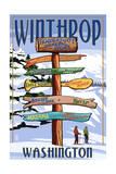 Winthrop, Washington - Destination Signpost Posters by  Lantern Press