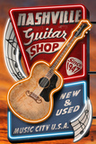 Acoustic Guitar Music Shop - Nashville, Tennessee Lámina por Lantern Press