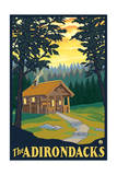 The Adirondacks - Cabin in the Woods Posters by  Lantern Press