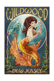 Wildwood, New Jersey - Mermaid Posters by  Lantern Press