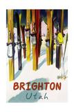 Brighton Resort, Utah - Colorful Skis Art by  Lantern Press