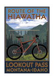 Route of the Hiawatha St. Regist, Montana - Mountain Bike Scene Pósters por  Lantern Press