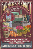 Waitsfield, Vermont - Farmers Market Vintage Sign Prints by  Lantern Press
