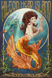 Hilton Head Island, South Carolina - Mermaid Print by  Lantern Press