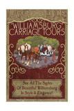 Williamsburg, Virginia - Carriage Tours Vintage Sign Print